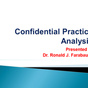 Confidential Practice Analysis