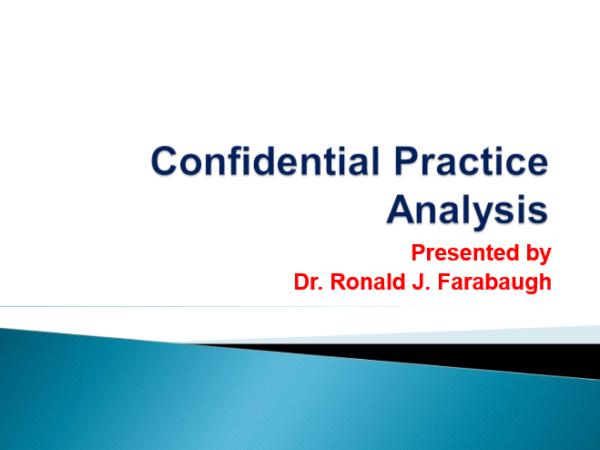 Confidential Practice Analysis